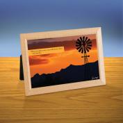 Sunset Windmill iQuote Desktop Print