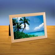 Palm Tree Beach iQuote Desktop Print