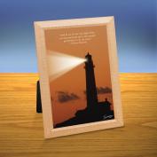 Sunset Lighthouse iQuote Desktop Print