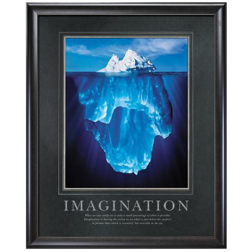 Imagination Iceberg Motivational Poster