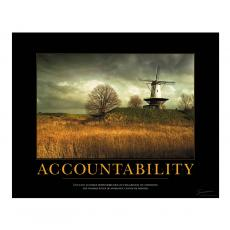 Classic Motivational Posters - Accountability Windmill Motivational Poster