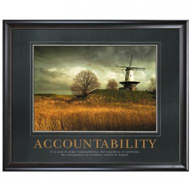 Accountability Windmill Motivational Poster