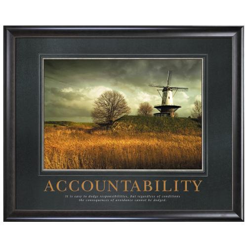 Accountability Windmill Motivational Poster