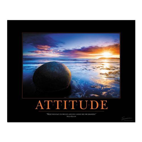 Attitude Boulder Motivational Poster