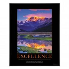 Excellence Mountain Motivational Poster