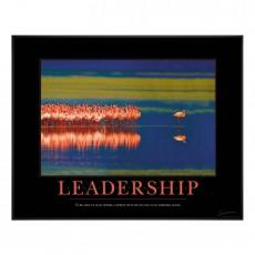 Leadership Flamingo Motivational Poster