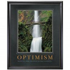 Optimism Waterfall Motivational Poster