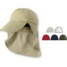Health & Safety - Six Panel Cap with Elongated Bill and Neck Cape