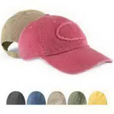 Apparel - Pigment Dyed Raw Edge Patch Baseball Cap