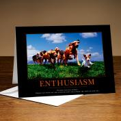 Enthusiasm Dogs 25-Pack Greeting Cards