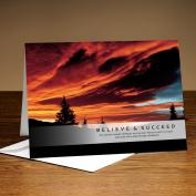 Believe and Succeed Sunset 25-Pack Greeting Cards