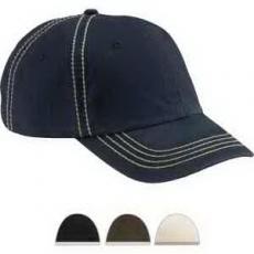 Apparel - Big Accessories Contrast Thick Stitch Unstructured Cap