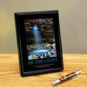 Be The Light Cave Framed Desktop Print