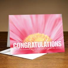 Recognition Cards - Congratulations Pink Flower 25-Pack Greeting Cards