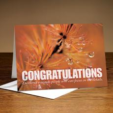 Congratulations Dew Drops 25-Pack Greeting Cards