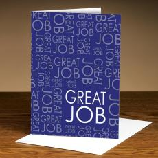 Recognition Cards - Great Job Purple 25-Pack Greeting Cards