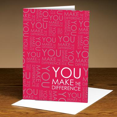 You Make The Difference Red 25-Pack Greeting Cards