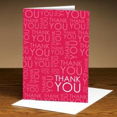 Closeout and Sale Center - Thank You Red 25-Pack Greeting Cards