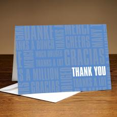 Thanks A Lot Blue 25-Pack Greeting Cards