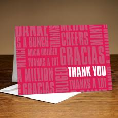 Thank You Cards - Thanks A Lot Red Greeting Cards