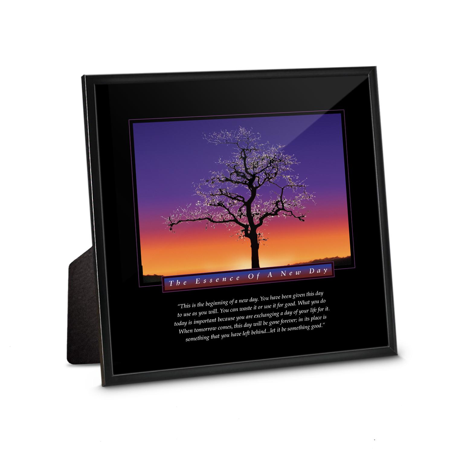 New Day Tree Framed Desktop Print