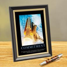Commitment Space Shuttle Framed Desktop Print