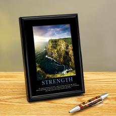 Strength Cliffs Framed Desktop Print