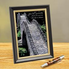 Cobbled Pathway Framed Desktop Print