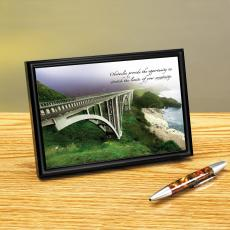 Pacific Bridge Framed Desktop Print