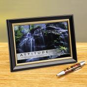Attitude Waterfall Framed Desktop Print