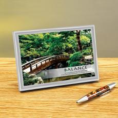 Balance Zen Garden Framed Desktop Print