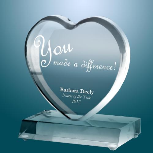Exceptional Big Heart Acrylic Award