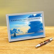 Embrace The Challenge Framed Desktop Print