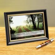 Explore The Possibilities Path Framed Desktop Print