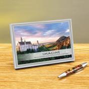 Imagine Alpine Castle Framed Desktop Print