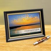 Inspiration Sunburst Framed Desktop Print