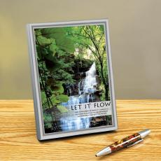 Let It Flow Framed Desktop Print