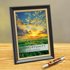 Opportunity New Day Framed Desktop Print