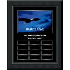 Dare To Soar Gunmetal Vertical Perpetual Plaque