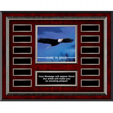 Dare To Soar Rosewood Horizontal Perpetual Plaque