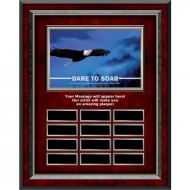 Dare To Soar Rosewood Vertical Perpetual Plaque