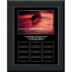 Teamwork Rowers Gunmetal Vertical Perpetual Plaque