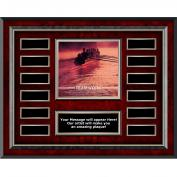 Teamwork Rowers Rosewood Horizontal Perpetual Plaque