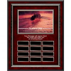 Teamwork Rowers Rosewood Vertical Perpetual Plaque