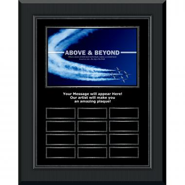 Above & Beyond Gunmetal Vertical Perpetual Plaque