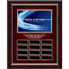 Above & Beyond Jets - Above & Beyond Rosewood Vertical Perpetual Plaque