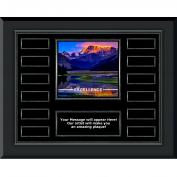 Excellence Mountain Gunmetal Horizontal Perpetual Plaque