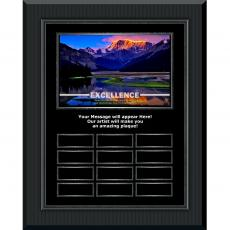 All Plaque Awards - Excellence Mountain Gunmetal Vertical Perpetual Plaque
