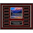 Excellence Mountain Rosewood Horizontal Perpetual Plaque
