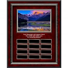 Excellence Mountain Rosewood Vertical Perpetual Plaque